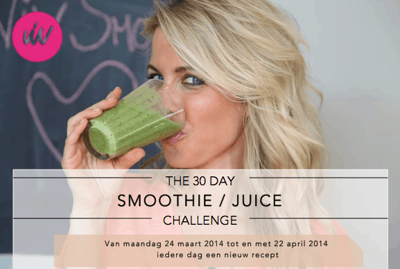 The 30 day smoothie / juice challenge