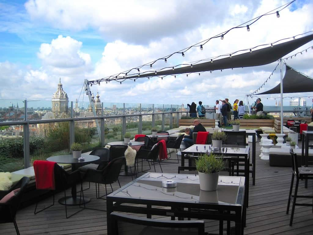 Amsterdam Skylounge rooftop terras