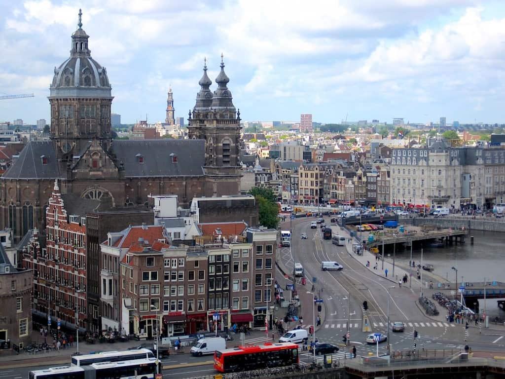 Amsterdam Skylounge uitzicht Rokin