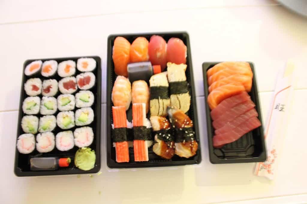 week 43 sushi thuisbezorgd