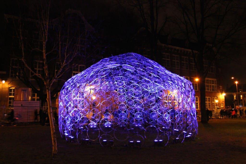 Amsterdam Light Festival bij Hortus blauw