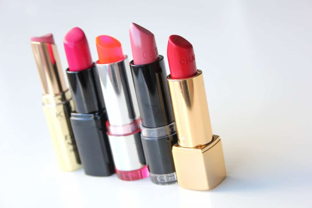 favoriete lipsticks rijtje