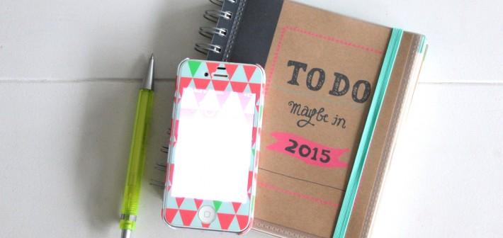 Lekker ouderwets… de papieren agenda 2015.