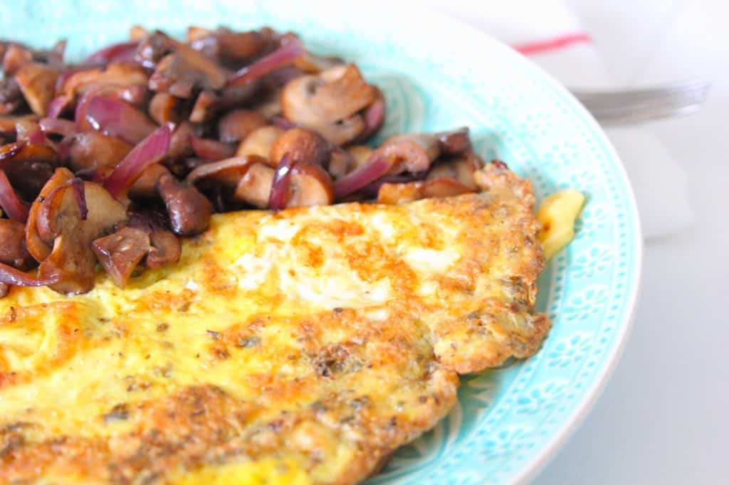 weke 2 lunchtime omelet close