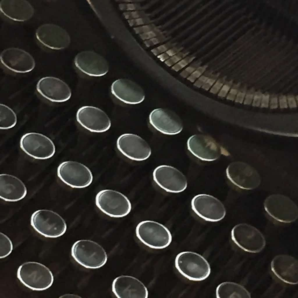 week 19 schrijfmachine close