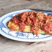 Cannelloni al forno con spinaci e ragù