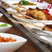 Indonesisch eten bij Blauw Amsterdam