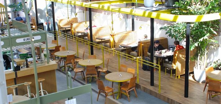 Eten, drinken en werken in De Kanarieclub