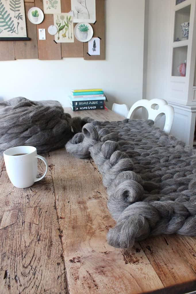 Brei razendsnel een deken van lontwol | ENJOY! The Good Life
