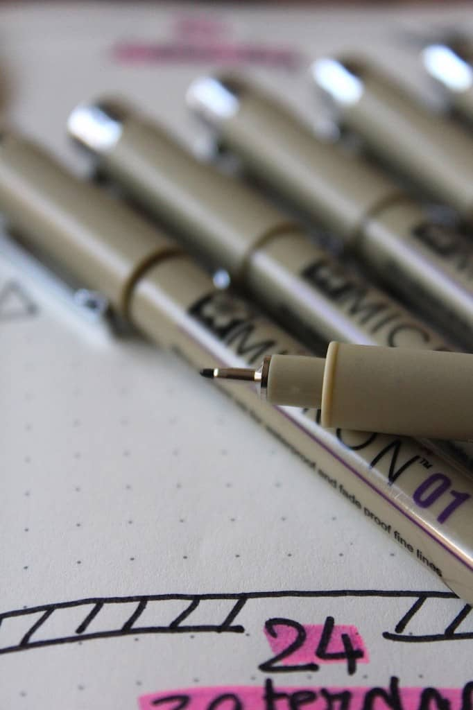 Favoriet: Micron pennen voor je Bullet Journal | ENJOY! The Good Life