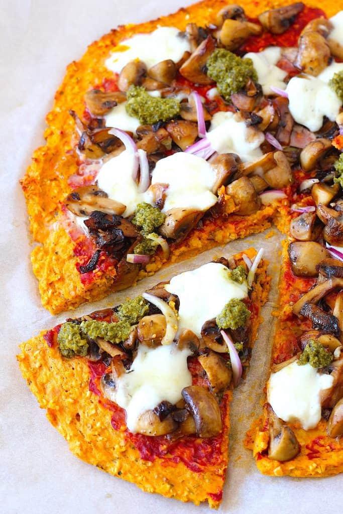 Pizza van zoete aardappel   ENJOY! The Good Life