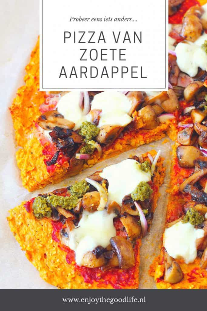 Pizza van zoete aardappel | ENJOY! The Good Life