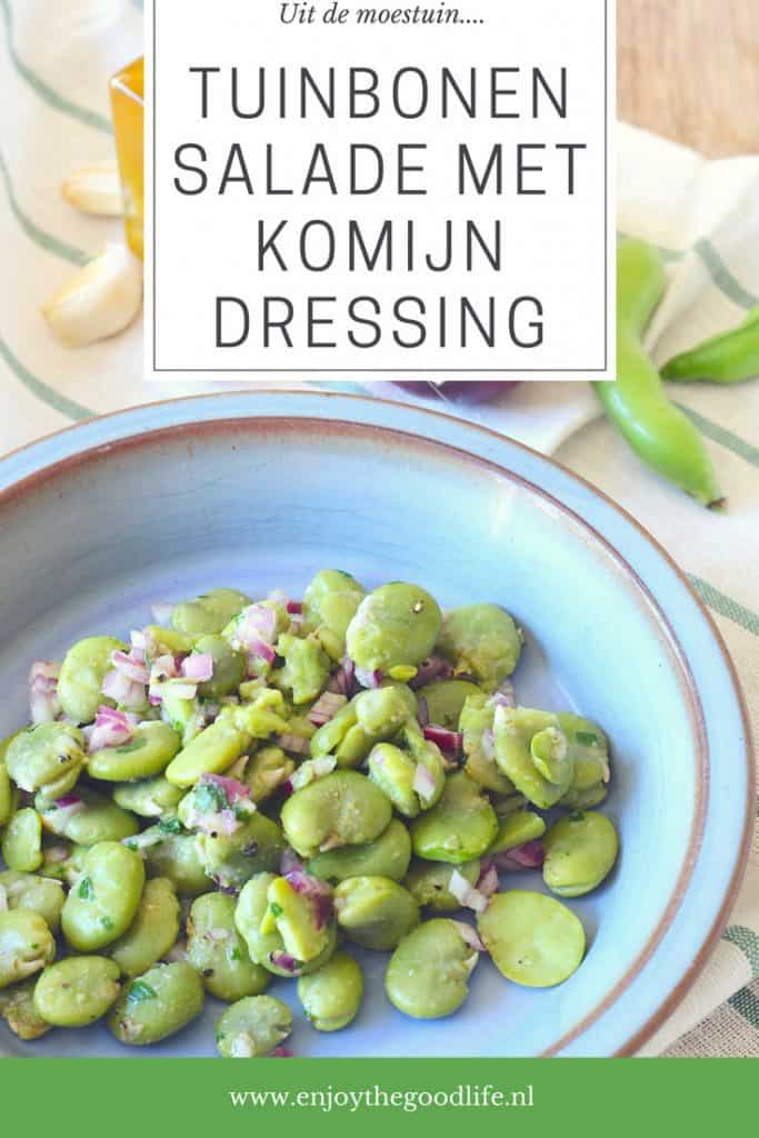 Uit de moestuin: Tuinbonen salade met komijndressing | ENJOY! The Good Life