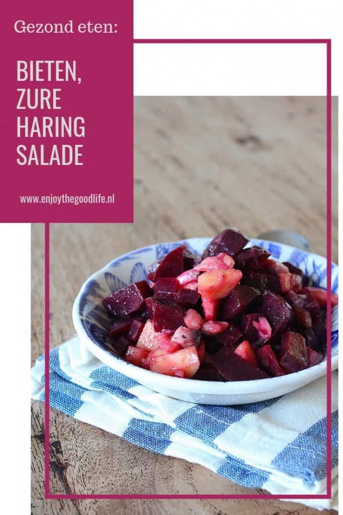 Gezond eten: Bieten, zure haring salade   ENJOY! The Good Life