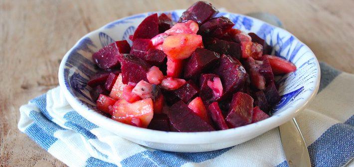 Gezond eten: Bieten, zure haring salade