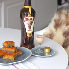 Sticky Amarula blondies