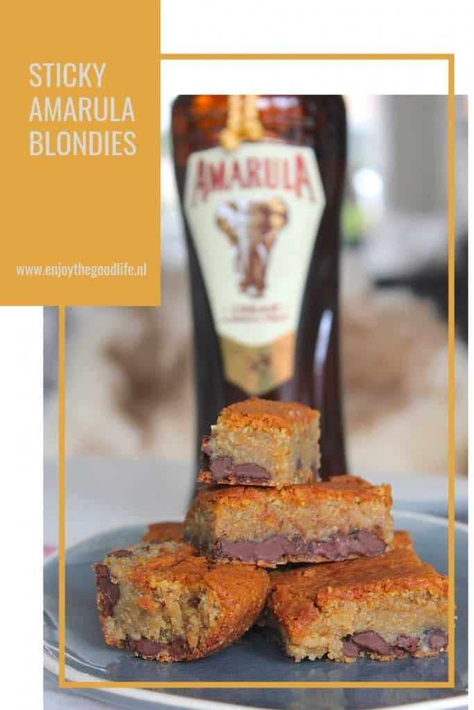 Sticky Amarula blondies | ENJOY! The Good Life