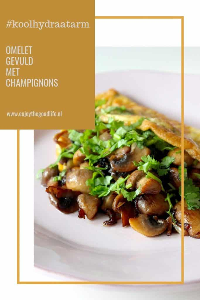 Omelet gevuld met champignons #koolhydraatarm | ENJOY! The Good Life