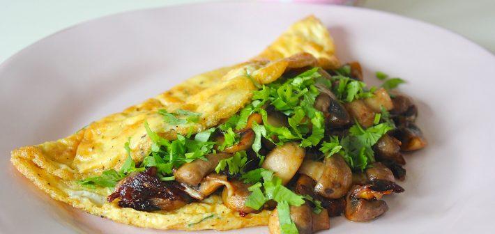 Omelet met champignons #koolhydraatarm