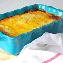 Vegetarische lasagne van gegrilde groenten