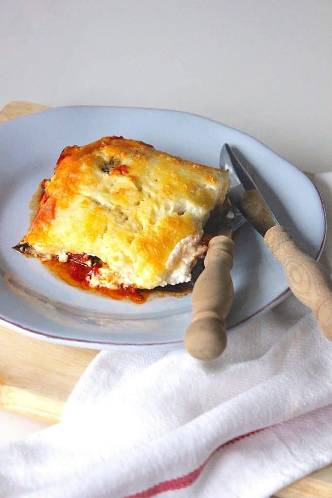 Vegetarische lasagne van gegrilde groenten | ENJOY! The Good Life