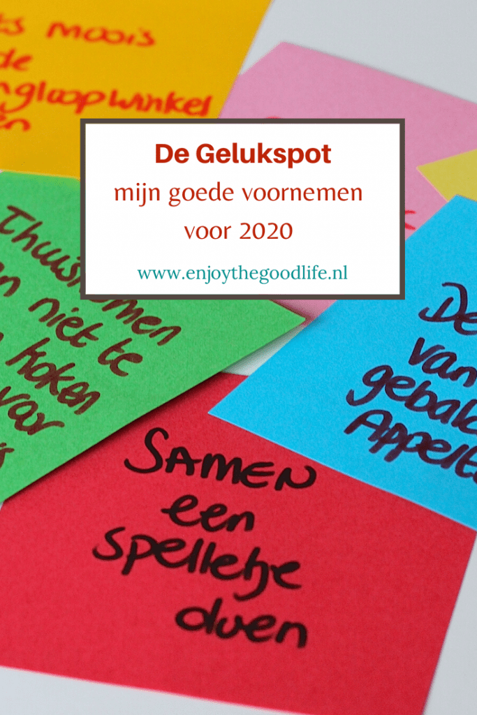 De Gelukspot, mijn goede voornemen voor 2020 | ENJOY! The Good Life